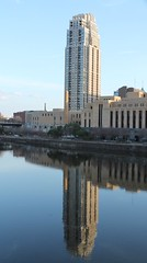 The Carlyle (jfpalmer) Tags: park city windows reflection building tower water minnesota skyscraper river mississippi minneapolis line mpls riverfront twincities carlyle