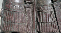 Tetrarchs, detail with skirts and scabbards
