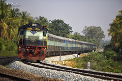 4-Eyed ALCO (Dheeraj Clickr Rao) Tags: railroad train track rail railway transportation locomotive railways alco railfanning kjm diesellocomotive diesellocomotives banavar wdg3a kjmwdg3a