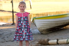 Zip-It (makeitperfect) Tags: red summer white rabbit grey dress gray zipper toadstool zip pockets sewingpattern roundyoke makeitperfect