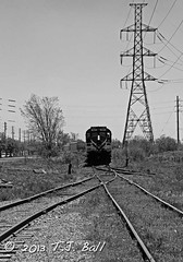 OSR 181 (Ramblings From The 4th Concession) Tags: freighttrains mlw osr blackandwhitephotos diesellocomotives guelphont blackandwhitetrains canonrebelxsi mlwlocomotives ontariosouthlandrailway rs18u osr181 guelphnorthspur canon18135stmlens