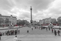 Trafalgar Square (iPupina) Tags: city red london square telephone trafalgar aprile londra citt canon7d