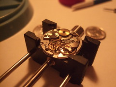 DSCF4306 (bigjohnf1) Tags: macro stem mechanical small watch hobby automatic crown wrist gears making jewel 1965 bulova