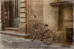 Traveling through Tuscany (ImagesByClaire) Tags: street old italy building bicycle vintage lucca tuscany