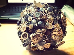 Steampunk button bouquet (pumpkin and pye) Tags: buttonhole steampunk buttonbouquet steampunkwedding buttonbouquets vintagebouquet uploaded:by=flickrmobile flickriosapp:filter=mammoth mammothfilter