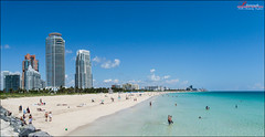 I'm in Miami Beach! (_Hadock_) Tags: world trip travel viaje blue windows summer wallpaper sky panorama hot beach apple azul skyline photoshop de mar dance florida miami sony south creative 7 8 commons screen panoramic pit bull pitbu