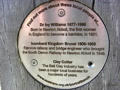 Town Quay Bridge Plaque Newton Abbot South Devon (Bridgemarker Tim) Tags: riverteign townquay templerway devonbridges