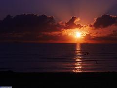 Glorious Sunrise at South Beach (Oakcrown) Tags: ocean sunlight beach water beautiful clouds sunrise spectacular interesting florida gorgeous atlantic sunburst sunrays southbeach