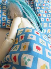 sleeping beauty (tarengil) Tags: abjd bjd asian doll dollmore zaoll luv ws white skin resin bed blue fruits fabric cushion pillow feather sleep girl