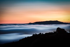 Tam Over a River of Fog (Clint Sharp) Tags: bay area california color efex pro 4 fuji xt1 landscape photography landscapephotography nikcollection san francisco sunset