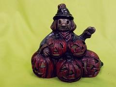 Scarecrow andPumpkins (stevensonmetal) Tags: fall halloween pumpkin jack happy jackolantern pumpkins scarecrow decoration lantern decor