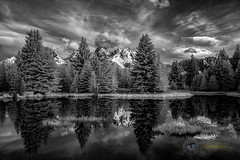 Schwabacher Landing IR (Theaterwiz) Tags: scwabacherlanding grandtetons snakeriver wyoming infrared clouds reflections theaterwiz michaelcriswellphotography