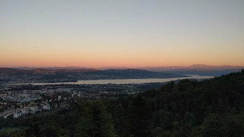 Zürichsee & Alps after sunset