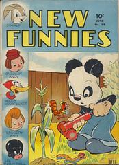 NEW-FUNNIES-88-1944 (The Holding Coat) Tags: dellcomics dangormley johnstanley andypanda walterlantz woodywoodpecker cartoons