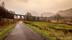 Glenfinnan Viaduct Scotland (stavros karamanis) Tags: bridge road roadtrip landscape landscapephotography outdoor cloud rain mountain mountainside tree winter canonphotography canonusers canon t3i dslr tokina 1116mm dxii f28 glenfinnan viaduct scotland ngc