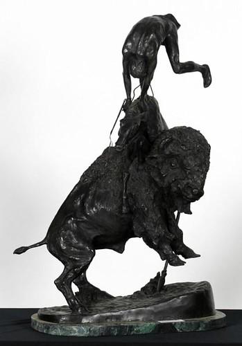"""33"""" Remington Bronze """"Buffalo Horse"""" ($1,064.00)"""
