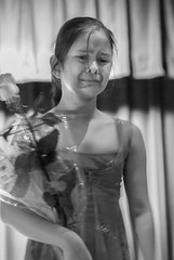 Mariah Crying (dalenewsted) Tags: crying cryingrecital realism congratulations flowers posing girl littlegirl little