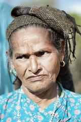 Nepalese woman (Bernat Beata) Tags: face people woman olod grey nepal asia west pokhara beatabernat