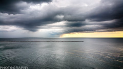 Before the Storm (Ricky L. Jones Photography) Tags: samsung wisconsin weather weatherphotography storm clouds landscape landscapephotography breakwater midwest