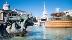 Trafalgar Square (uplandswolf) Tags: fountains trafalgarsquare london