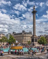 Nelson's Column (James Neeley) Tags: london trafalgarsquare jamesneeley