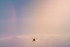 Fly Away (camerue) Tags: flight plane airplane sun sky backlit minimalism