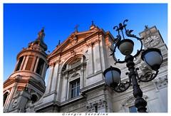 loreto santuario (Giorgio Serodine) Tags: loreto santuario dalbasso grandangolo lampione campanile sera cielo finestre tetti croce statue canon orologio marche campane lampade