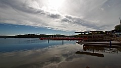 Bostalsee / Saarland / Germany (Saarblitz) Tags: bostalsee boot himmel wolken sonne wasser see stausee wellen spiegelung reflexionen landschaft tourismus ferien urlaub blau erholung outdoor wolke