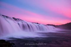 20130922-5394 (mvdkelen) Tags: 2013 iceland faxifoss waterfall water pink purple sunset longexposure