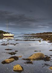 Rum and Eigg from Glenuig Bay (silverlarynx) Tags: isle rum eigg glenuig glen uig scotland highlands ardgour ardnamurchan
