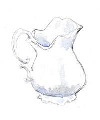 Tea Creamer (lwdphoto) Tags: lance duffin lanceduffin teacreamer creamer pitcher watercolor painting pencil art
