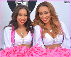 2016 Oakland Raiderettes Leilani & Cassie (billypoonphotos) Tags: 2016 oakland raiders raiderette raiderettes raider nation raidernation leilani cassie go pink breast cancer awareness bcam raiderville nfl football fabulous females cheerleaders cheerleading dance dancer nikon d5200 billypoon billypoonphotos silver black photo picture pretty women ladies girls coliseum squad team photography photographer people chiefs kansascity