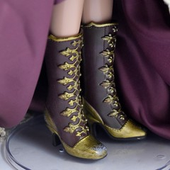 Belle Limited Edition 17'' Doll - Beauty and the Beast - US Disney Store Purchase - Deboxed - Standing - Skirt Raised - Closeup Left Front View of Boots (drj1828) Tags: us disneystore beautyandthebeast limitededition 17inch doll collectible animated 2016 purchase belle winter princess deboxed standing