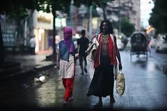 Then God Shall Feed You (N A Y E E M) Tags: vagabond woman homeless candid portrait dusk wet street rain monsoon red norahmedroad chittagong bangladesh carwindow