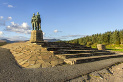 United We Conquer (Kev Gregory (General)) Tags: the sun sets commando memorial spean bridge scottish highlands overlooking tributes lost fallen commandos recent more dated statues stand stark backdrop ben nevis aonach mr category a listed monument scotland dedicated men british forces world war ii situated village overlooks training areas depot established 942 achnacarry castle unveiled queen mother united kingdom tourist attraction kev gregory canon 7d scenic mountain we conquer