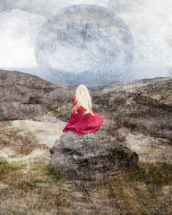 Waiting (landbergmary) Tags: marylandberg conceptualphotography fineartphotography compositephotography surreal waiting allowing time texture overlay creativephotography