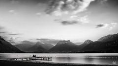 just for us - juste pour nous (flo73400) Tags: bw blackandwhite le longexposure poselongue paysage landscape lac lake lacdannecy france alpes