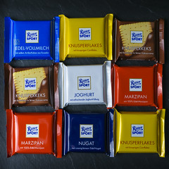 squared chocolate squares (stefanfricke) Tags: square chocolate rittersport sony ilce6000 a6000