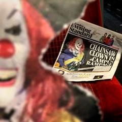 Chainsaw clowns (Flamenco Sun) Tags: terror evil chainsaw clown horror eveningstandard newspaper news