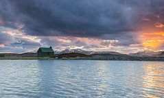 sunset at the grouse hut (Mandy k1) Tags: hut sunset hills scotland landscapes clouds sun snow mountains views grouse