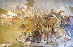 The Alexander Mosaic - National Archaeological Museum Naples DSC02140 (Chris Belsten) Tags: italy classicalart herculaneum museum napoli art pompeii treasures nationalarcheologicalmuseum sculpture naples greekart classical mosaics romanart mosaic portraits romansculpture archaeology