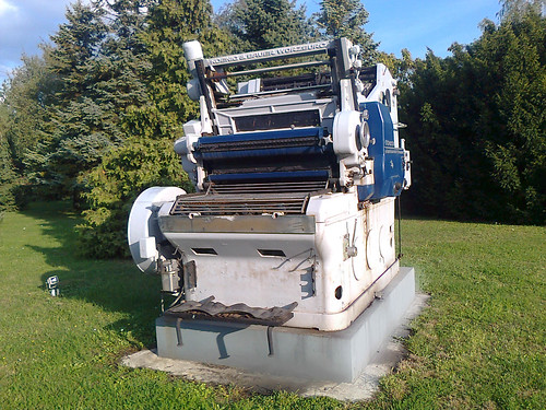 Printing machine made in the twentieth century Photo2886-1