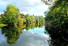 Reflections (Pauline Deas) Tags: callander trossachs scotland scottish river teith trees autumn reflections water