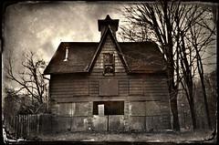 Dark Thoughts (drei88) Tags: gothic tintype carriagebarn bleak grim dark sinister witch halloween brooding d7000 d7k garrettsville ohio forlorn