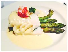 Prinsefisk / Prince Fish (d-harding) Tags: apple iphone 5s iphone5s snapseed norway prinsefisk food steamed cod asparagus bergen
