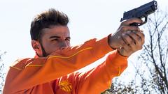 Shoot'em Up (andyliar94) Tags: shoot gun boy young portrait fiction tv trailer color digital canon sunlight weapon