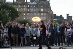 Street Performer, Edinburgh (Secondcity) Tags: streetperformer edinburgh edinburghfestivalfringe balmoralhotel
