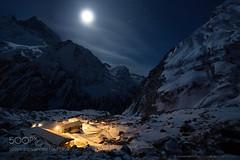 Hearth and Home (SeattleHVAC172) Tags: sky landscape mountains winter night     moon  stars snow    home village  hills  moonlight trek trekking  hearth  comfort    full   base camp    nepal himalayas annapurna fish tail  machhapuchhre cnb 78k 51 59706 a53 c0 gl 4a5     b5 e