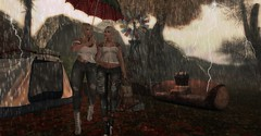 Going Home (BijankRau | [ photograp'r model.]) Tags: chezmoi sl marketplace event lw poses furniture home living outdoor camping adult pg blondes rain thunderstorm