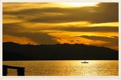 Rowboat sunset (C. Alice) Tags: water clouds summer sea seashore blue 2016 hongkong ilce6000 sony a6000 sonya6000 sonysel1670zcarlzeissvariotessart tessar zeiss carlzeiss beach people sunset boat orange aatvl01 1000v40f favorites50 favorites100 aatvl02 2000views favorites150 3000views 3000v120f aatvl03 aatvl04 4000views